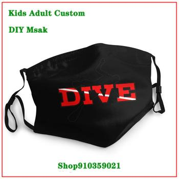 Stylish mascarillaa tela Scuba Dive washable reusable face mask adult DIY face mask fashion mask for face masks