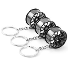 Wheel Rim Key Chain Car Key Holder for lada vesta granta niva xray kalina for GAZ Gazelle(China)