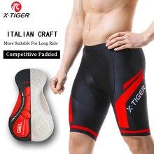 X TIGER cortos de ciclismo transpirables para hombre, pantalones cortos para bicicleta de montaña, a prueba de golpes, de secado rápido, con almohadilla de Gel Coolmax 5D, para verano