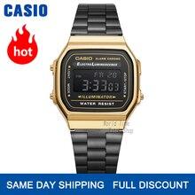 Zegarek Casio złoty zegarek mężczyźni top marka luksusowy LED cyfrowy Wodoodporny zegarek kwarcowy mężczyźni Sportowy zegarek wojskowy relogio masculino reloj hombre erkek kol saati montre homme A158WA
