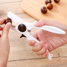 Chestnut Cracker Opener Plastic Peeler Fruit Cutter Scissor Peeling Sheller Portable Kitchen