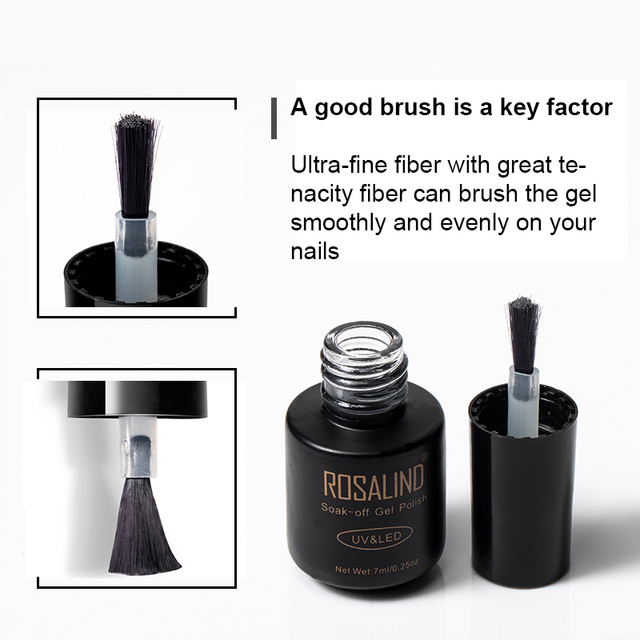 ROSALIND Nail Gel Polish Set For Manicure UV Colors Gel Varnish Semi Permanent Hybrid Nail Art Gel Polish Set & Kits 12PCS/LOT 4