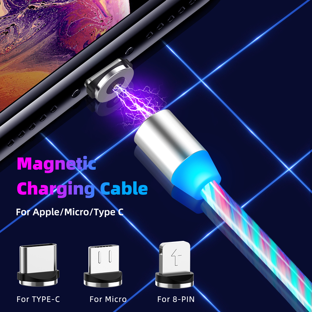 Lighting Fast Charging Magnetic USB Type C Cable Magnetic Cable USB Micro Charger Cable Wire for Xiaomi iPhone Huawei Samsung 2