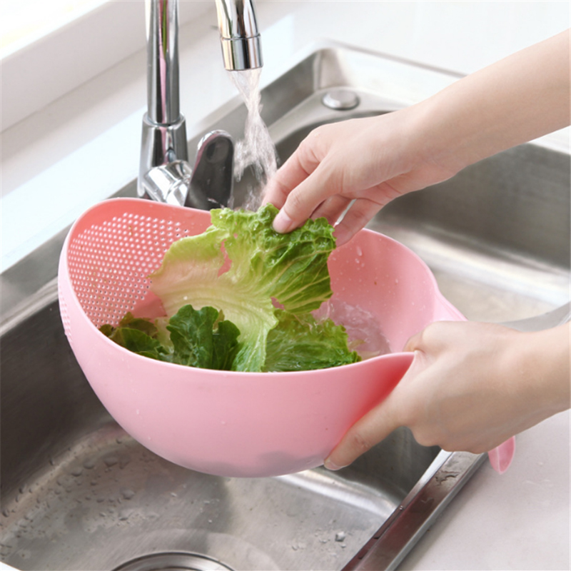 Fruit Vegetable Washing Kitchen Accessories Fruit Bowl Filter Cleaning Plastic Colander Strainer Kitchen Gadgets Cooking Tools