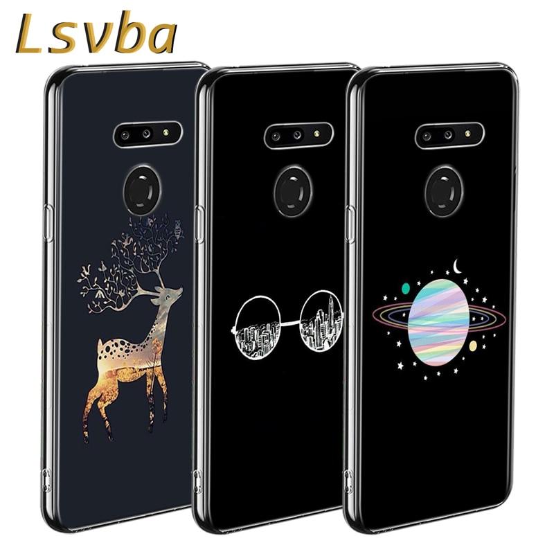 Gold Glitter Style For LG W20 W10 V50S V50 V40 V30 K50S K40S K30 K20 Q60 Q8 Q7 Q6 G8 G7 G6 Thinq Phone Case