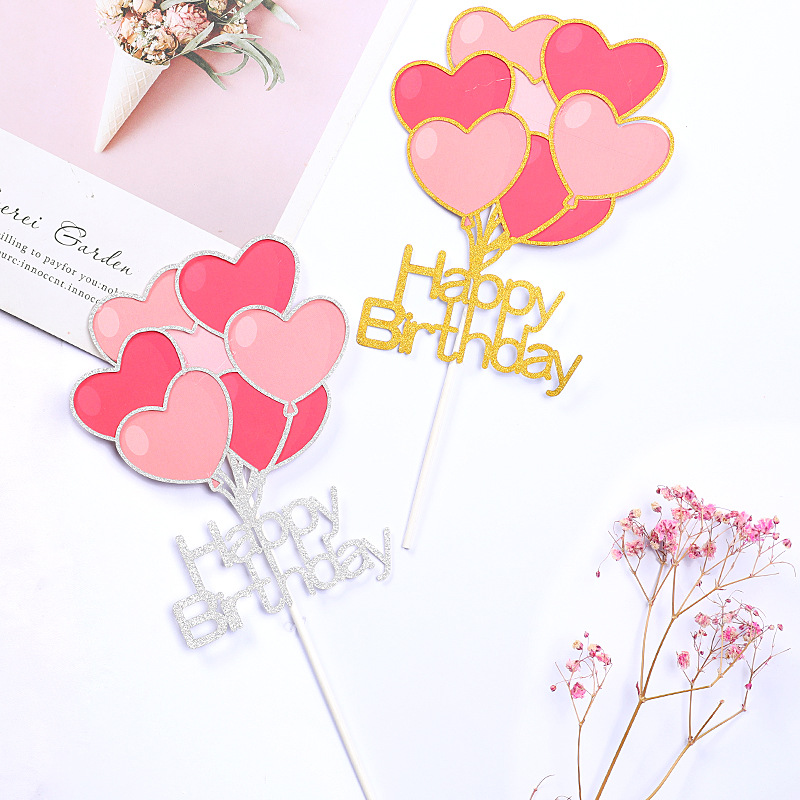 New Arrivals Love Heart Balloon I Love Your Happy Birthday Cake Topper Valentine 39 s Day Wedding Cake Decoration Party Supplies in Cake Decorating Supplies from Home amp Garden
