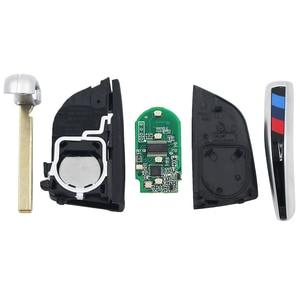 Image 3 - الذكية 4 أزرار 315mhz 433mhz 868MHZ مفتاح بعيد دخول بدون مفتاح فوب لسيارات BMW F CAS4 5 7 سلسلة X5 X6 2014 2015 2016 مع مفتاح إدراج