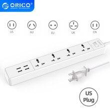 ORICO – prise électrique universelle, avec interrupteur principal, multiprise US, Extension, pour le bureau et la maison
