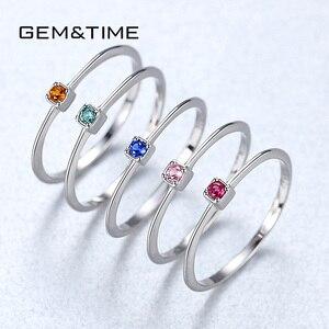 Image 3 - อัญมณี & Real 925 เงินสเตอร์ลิงแหวน Gree สีแดง Topaz แหวนพลอยหมั้นแหวนเงิน 925 anillos Mujer