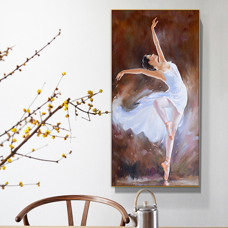 Ballet Dancer Entrance Living Room Decorative Painting Bedroom Dance Classroom Hanging Painting Northern European-Style Modern M