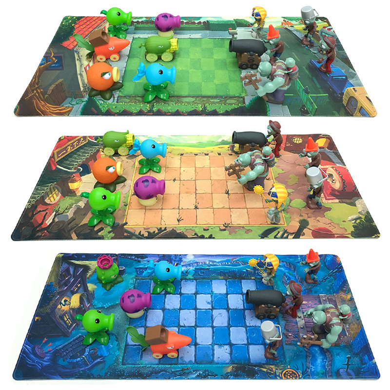 Plants Vs Zombies Game Plan Map Waterproof Film Plastic Mat Color Printed Decorative Operational Layout Stance Kid Toy image
