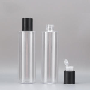 1 шт. 100/120/150/200/250 мл пустые ПЭТ черный колпачок бутылка спущенное плечо прозрачный тонер бутылка косметические бутылки многоразового исполь...