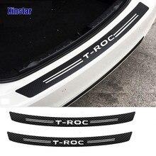 Adesivo de proteção do amortecedor traseiro do carro da fibra do carbono para volkswagen troc T-ROC