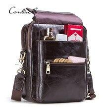 CONTACT'S – sacoche en cuir véritable pour hommes, sac à bandoulière décontracté à rabat de marque de luxe pour Ipad 9.7 pouces, nouvelle collection