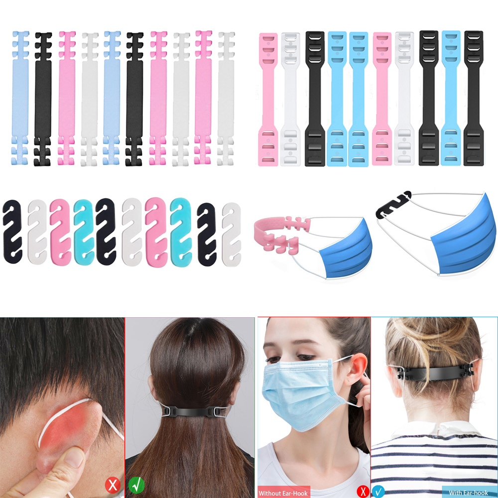 30pCS Multi-color Ear Extension Hook For Mouth Mask Release Ear-pain Grips Belt Protect Ear Care Mask Anti-leech Artifact Hold