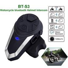 Intercomunicador con Bluetooth para casco de motocicleta, BT-S3 impermeable IPX7 BT 3,0 con FM BTS3, auriculares de 1200m