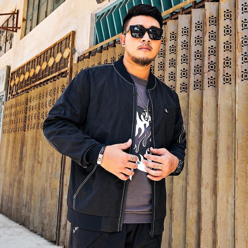 Jin Woo Popular Brand Large Size Men'S Wear New Style Autumn And Winter Baseball Collar Coat Jacket Lard-bucket Fat People Fat S