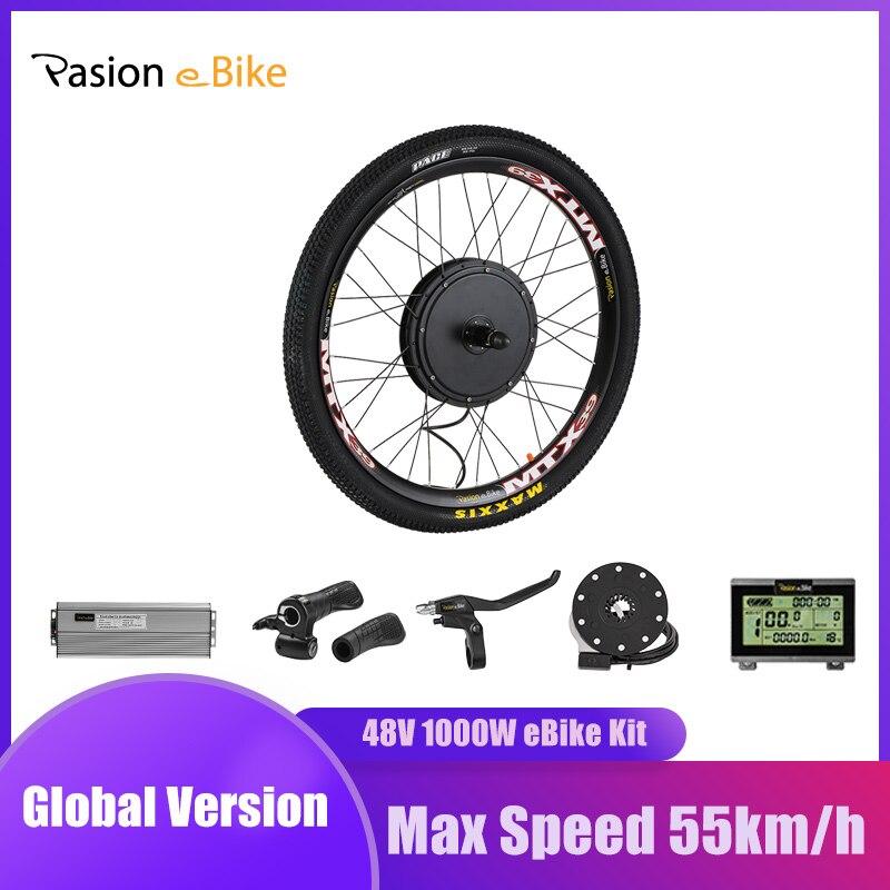 PASION E BIKE 48V 1000W Elektrische Fahrrad Conversion kit Kassette Hinten Rad Motor Kit Für Fahrrad MTB CST elektrische Fahrrad Rad