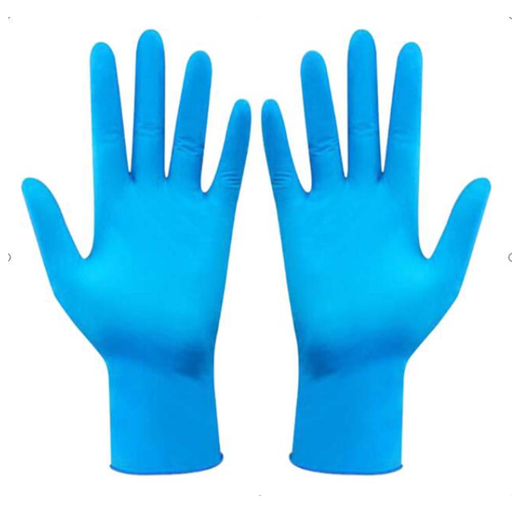 50/100PCS Disposable Gloves Anti-Bacteria Dustproof Gloves Satety Blue Nitrile Gloves