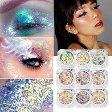 2019 Fashion Body Art Glitter Gel Haar Gezicht Eye Nail Art Glitter Flash Hart Losse Pailletten Crème Festival Glitter Decoratie(China)