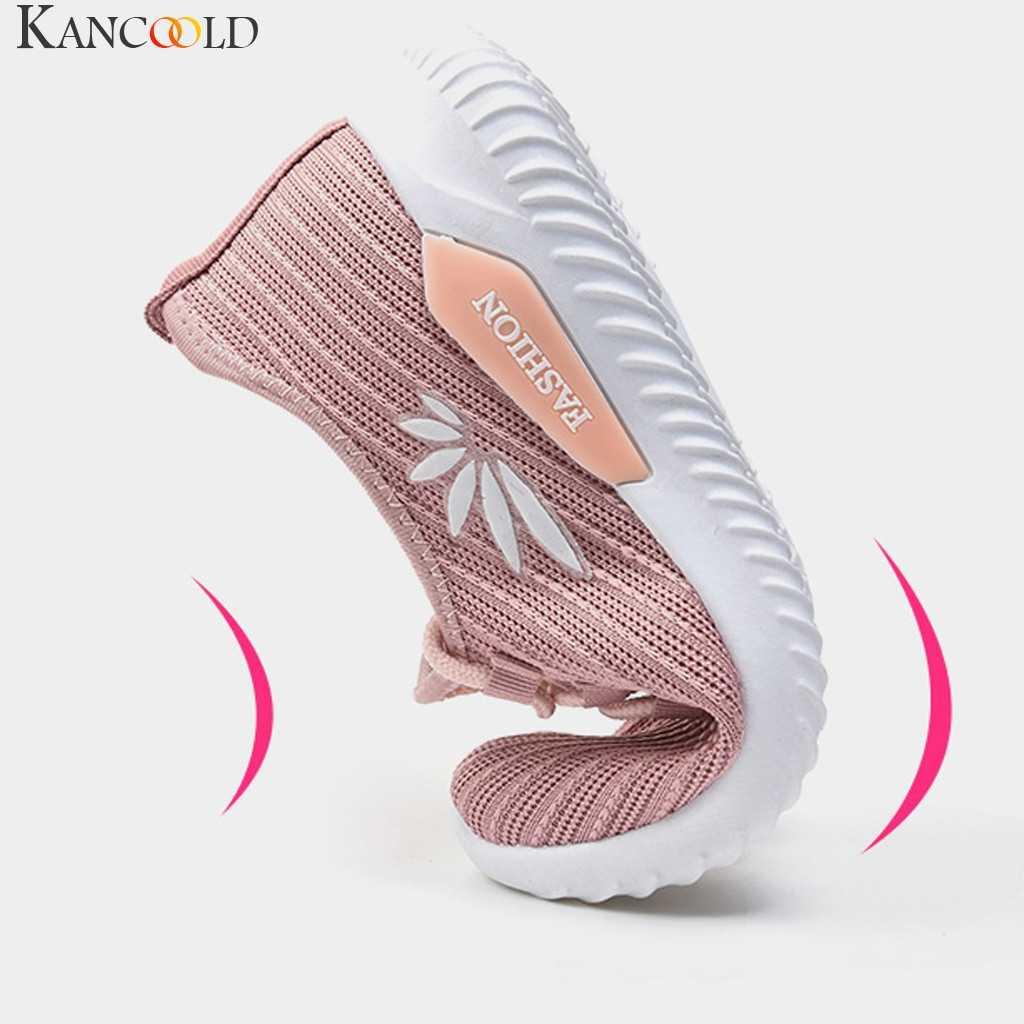 Frauen leichte mesh atmungsaktive Lace-up non-slip sport schuhe Sneakers Damen stickerei casual outdoor laufschuhe Gym