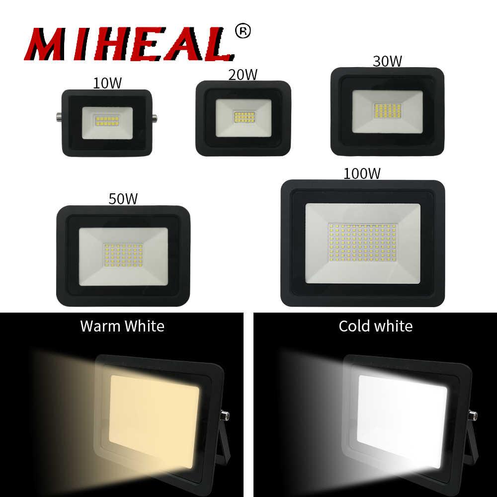 110 В/220 В светодиодное промышленное освещение 10 Вт 20 Вт 30 Вт 50 Вт 100 Вт Светодиодный прожектор IP68 Уличный настенный светильник заводской цех рабочий свет