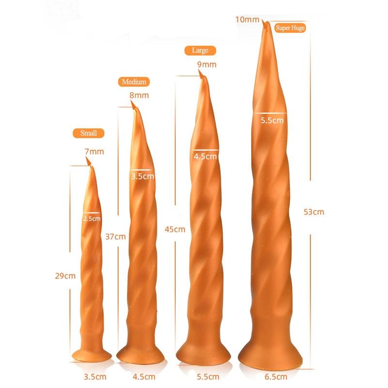 Anal Sex Shop Super Long Dildo Anal Plug Prostate Massager Soft Big Butt Plug Dilator BDSM Game Anal Sex Toys For Adults Woman