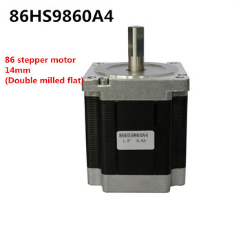 nema34 86stepper motor  axis diameter 14mm length 98mm  torque 6.8N.m two-phase four-wire 1.8 degrees 6A hybrid motor