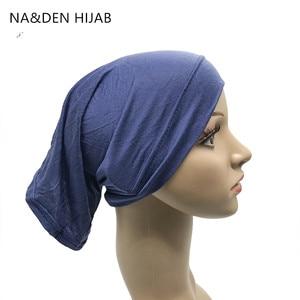 Image 2 - 1 adet sıcak satış müslüman iç başörtüsü kadınlar başörtüsü streç elastik Underscarf islam iç kapaklar tüp eşarp