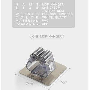 Image 5 - Parete Mop Dellorganizzatore Del Supporto Rack Auto Attaccare Spazzola Scopa Gancio Gancio Cucina bagno Mop Rack di storage di goccia 1pc forte