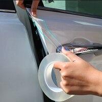 Transparente película protectora coche Borde de puerta de coche cuerpo Protector de arañazos pintura Auto protección Anti arañazos de Nano de La etiqueta engomada