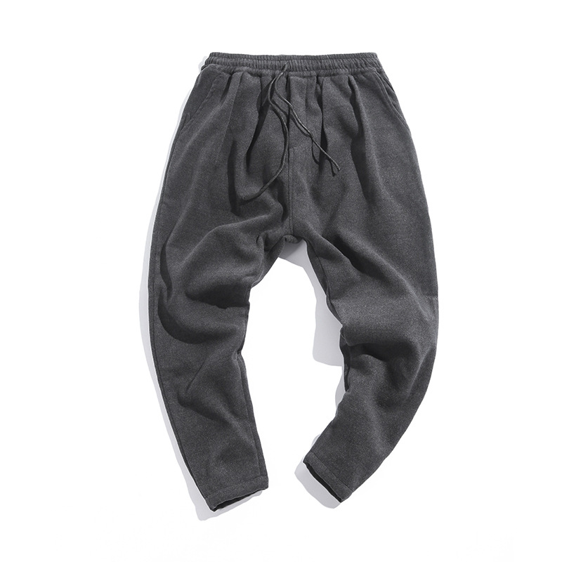 2018 Casual Pants Men Thickened Winter Woolen Trousers Loose Harem Pants Cotton Comfortable Mens Warm Straight Sweatpants