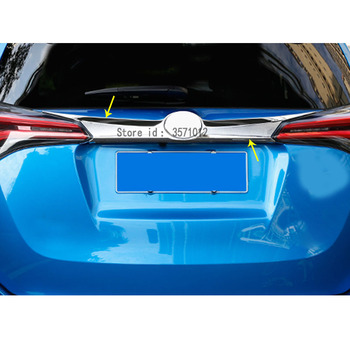 Car ABS Chrome Styling Trunk Lid Cover Molding Rear Door Tail Gate Trim Stick Molding 1pcs For Toyota RAV4 2016 2017 2018