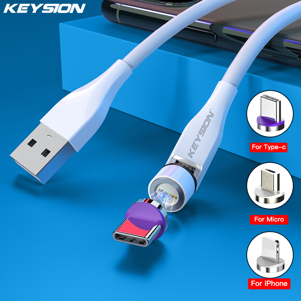 Cable magnético KEYSION 3A TypeC, Cable de carga rápida para Xiaomi Huawei, Cable Micro USB para Samsung, Cable magnético para iPhone 8mm WiFi 7m endoscopio con Cable duro impermeable USB endoscopio de mano boroscopio cámara de inspección Digital para teléfono
