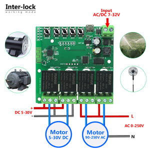 Image 2 - Tuya Wifi Relay 12v Module 4CH Wireless Switch Smartlife APP Remote Control Smart Timer for Smart Home with Alexa Google Home