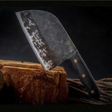 Butcher Knife Handle Forged Chinese Full-Tang Qing High-Carbon-Steel