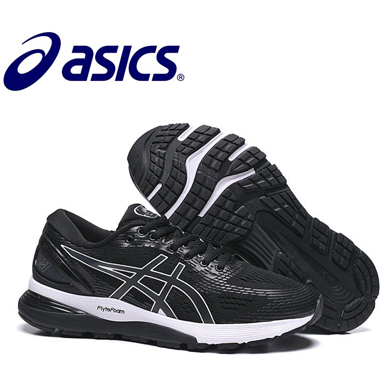 2019 ASICS-GEL-Nimbus 21 Original Men's Sneakers Running Stability Asics Man's Running Shoes Breathable Sports Nimbus 21