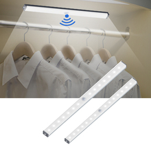 14 20 LED USB Charging Cabinet Light Magnetic Strip Closet Light Night Lamp With Motion Sensor For Kitchen Bedroom Home Lighting cheap YANKE CN(Origin) 50000 Hours or more Aluminum LED Undercabinet Light Rechargeable Battery white warm yellow 210mm 297mm