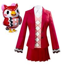 Animal crossing celeste cosplay traje terno completo trajes de halloween trajes de festa carnaval