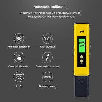цена на PH TESTER Accuracy 0.01 Digital PH Meter Tester for Water Food Aquarium Pool Hydroponics Pocket Size PH Tester Large LCD Display