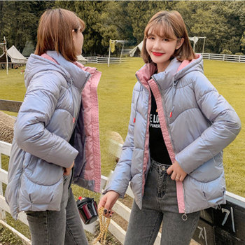 цена на 2020 New Winter Jacket Women Down Cotton Padded warm Short Parkas Mujer Plus Size Casual Basic Winter Coat Women Hooded Jacket