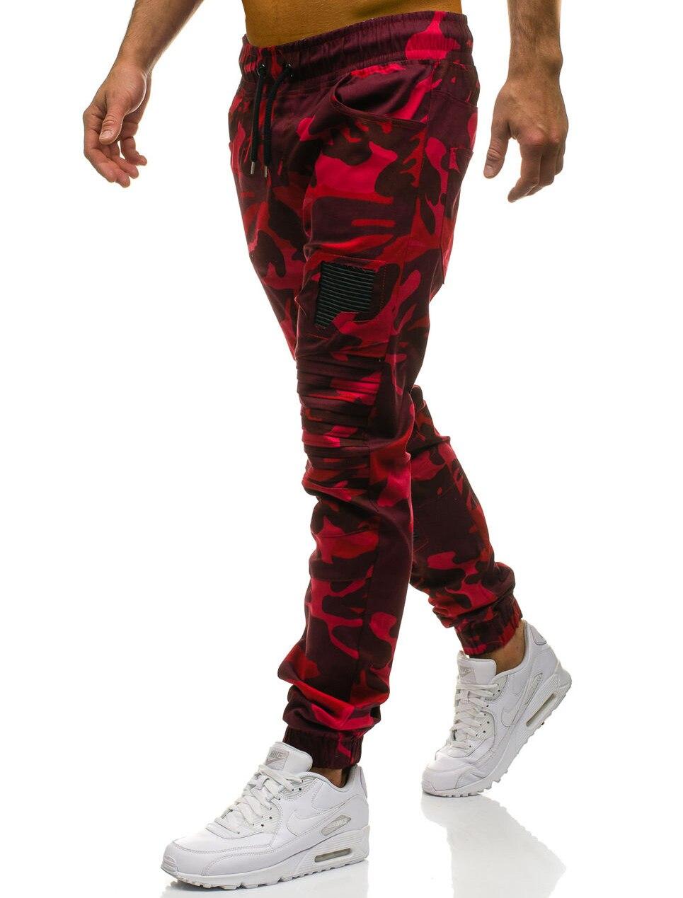 Men Sweatpants Casual Pants Slim fit Drawstring Sweatpants Slacks Elastic Waist Patchwork Pleated Ultrathin Male Trousers Jogger 18