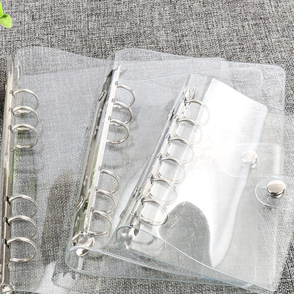 1Pcs Transparent Plastic Clip File Folder A4/A5/A6/A7 Ring Leaf Binder Office Supplies Notebook School Planner Folder