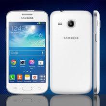 Quase novos smartphones usados samsung galaxy g3502 gps 4.3 polegada 4gb rom 3g wcdma celular 5.0mp desbloquear telefones celulares baratos android