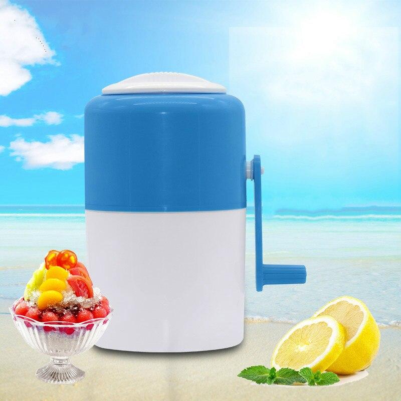 Broyeur à glace manuel rasoir manivelle Mini Machine à raser la glace bricolage crème glacée meulage déchiquetage neige cône Smasher broyeur