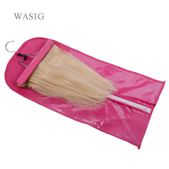 Hair Extensions Carrier Storage Non-woven Suit Case Bag Package With Wooden Hanger For Virgin Hair Weft & Clip In Hair Extension