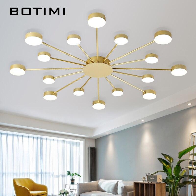 BOTIMI Novelty Metal Irregular Ceiling Lights For Foyer Black Ceiling Lamp Golden Surface Mounted Bedroom Lighting Fixture in Ceiling Lights from Lights Lighting