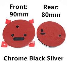 Новинка черные Серебряные 90 мм 80 мм аксессуары для стайлинга автомобиля Skoda головной колпачок передний задний багажник значок эмблема знач...