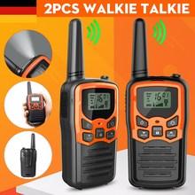 2PCS Portable handheld walkie talkie 22 channels up to 10 kilometers range low power UHF mini radio communication transceiver