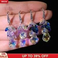 sparkling, Austria crystal earrings, Korean earrings, wild style, personality, temperament, ear studs, ear accessories.